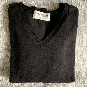Yves Saint Laurent 100% lana wool vneck sweater